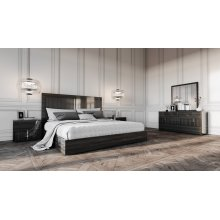 Modrest Ari Italian Modern Grey Bedroom Set