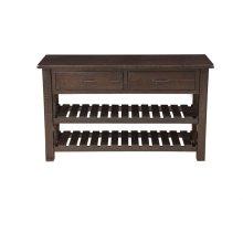 Barn Door Collection Console Table, Espresso