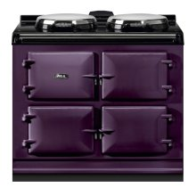 """AGA Dual Control 39"""" Electric/Natural Gas Aubergine with Stainless Steel trim"""