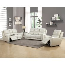 "Laurel Pwr-Pwr Console Loveseat Ivory, 75""x40""x40"""