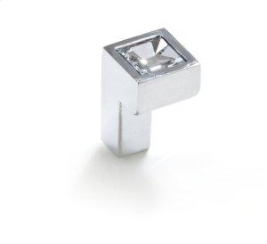 Small Square Swarovski Knob Bright Chrome Product Image