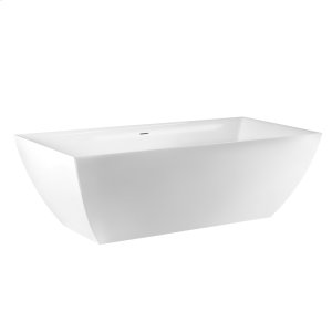 """Freestanding bathtub in Ceramilux® Glossy gel coat L 68-7/8"""" W 31-1/2"""" H 21-5/8"""" Waste included CSA certified Please check if the capacity load of the slab is in comformity with the specifications Please contact Gessi North America for freight terms Product Image"""