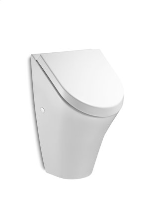 White Vitreous china urinal with back inlet Product Image
