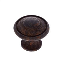 "Rust 1-3/16"" Large Button Knob"
