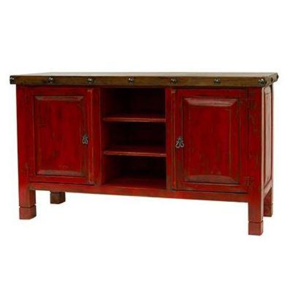 Red/Walnut TV Stand
