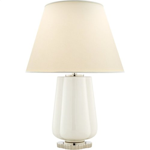 Visual Comfort AH3125WHT-PL Alexa Hampton Eloise 26 inch 60 watt White Porcelain Table Lamp Portable Light