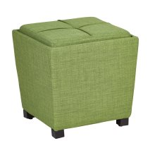 2-piece Ottoman Set With Tray Top In Milford Grass Fabric