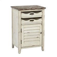 Charlotte Chair Side Table In Country Cottage Finish, Fully Assembled