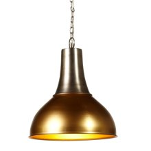 Gold & Silver Dome Pendant. 60W Max. Hard Wire Only.