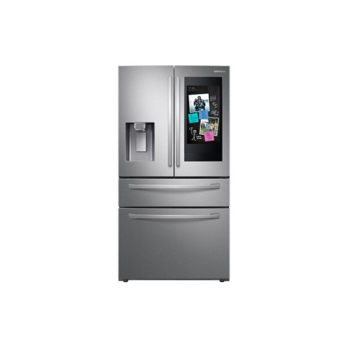 """28 cu. ft. 4-Door French Door Refrigerator with 21.5"""" Touch Screen Family Hub in Stainless Steel"""