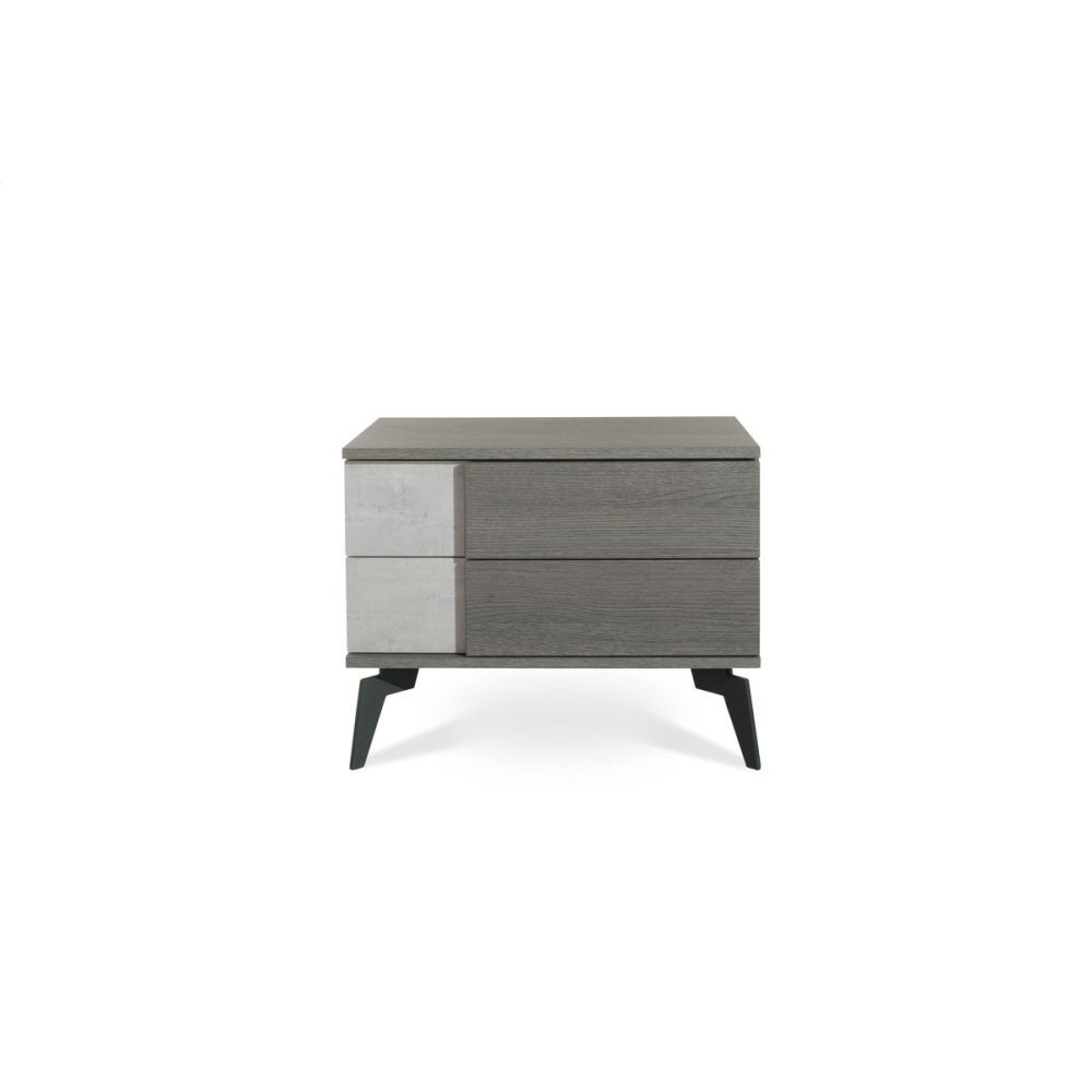 Nova Domus Palermo Italian Modern Faux Concrete & Grey Nightstand