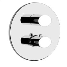 """TRIM PARTS ONLY External parts for 2-way diverter thermostatic and volume control Single backplate 1/2"""" connections Vertical/Horizontal application Anti-scalding Requires in-wall rough valve 09279"""