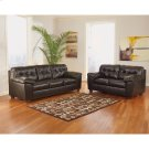 Signature Design by Ashley Alliston Living Room Set in Chocolate Faux Leather [FSD-2399SET-CHO-GG] Product Image