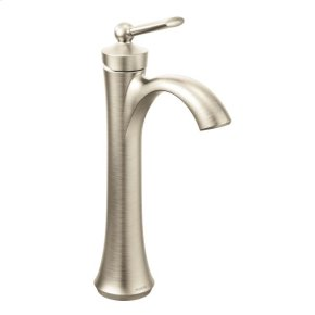 Wynford brushed nickel one-handle bathroom faucet