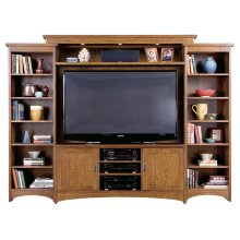 Left Facing Unit, Oak Bookcase Unit