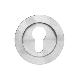 Round flush pull 65 with Euro. cylinder hole, Antique Brass Dark Product Image