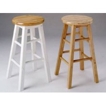 Natural/White Finish Bar Stool