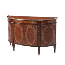 A Finely Inlaid Bowfront Decorative Chest