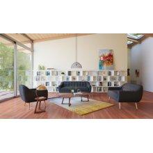 Divani Casa Afton Modern Grey Fabric Sofa Set