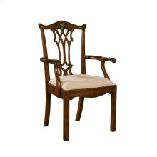 CONNECTICUT REGENCY MAHOGANY ARM CHAIR