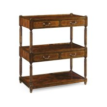 Regency style mahogany three-tier etag re four drawers