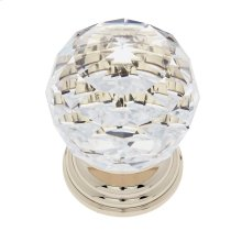 24k Gold 50 mm Round Crystal Knob