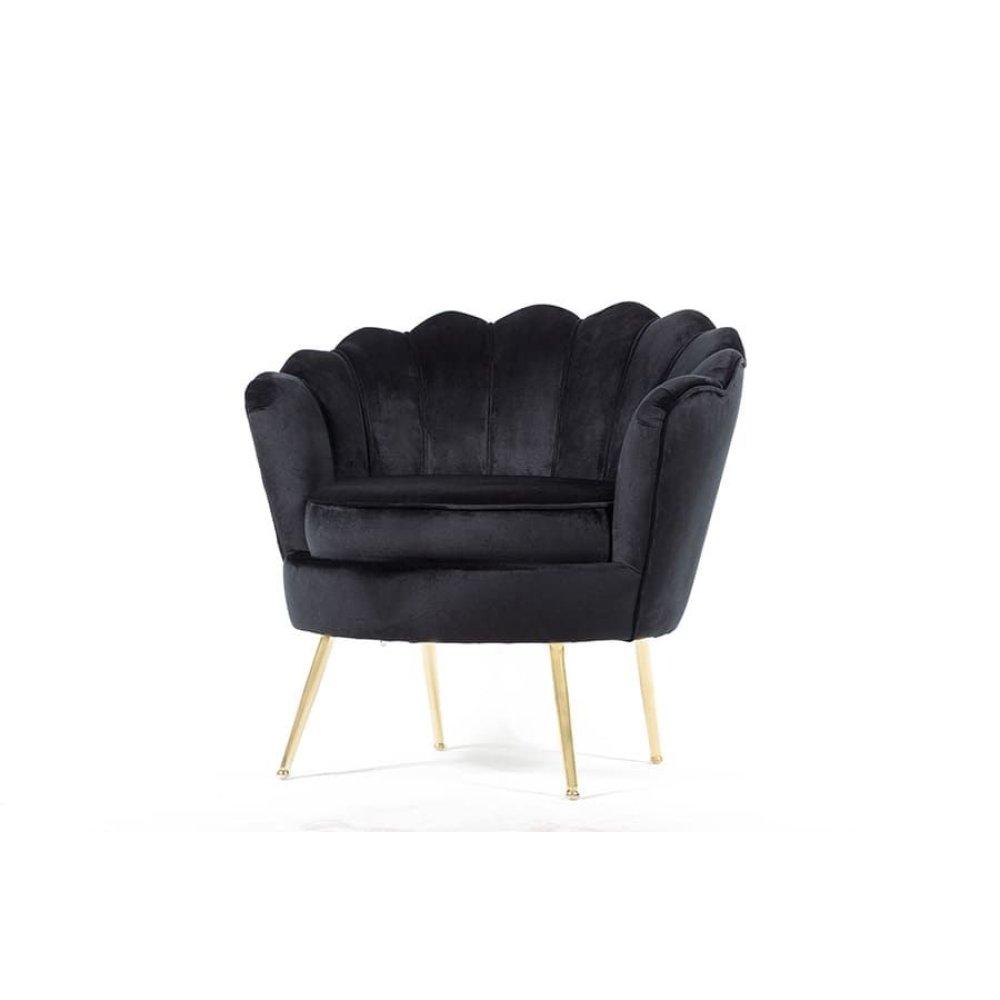 Fleur Black Accent Chair, AC1831