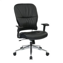 Black Bonded Leather Managers Chair