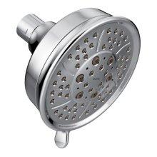 "chrome four-function 4-3/8"" diameter spray head eco-performance showerhead"