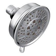 "chrome four-function 4-3/8"" diameter spray head eco-performance showerhead"