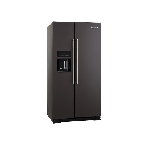 22.6 cu ft. Counter-Depth Side-by-Side Refrigerator with Exterior Ice and Water and PrintShield™ finish - Black Stainless