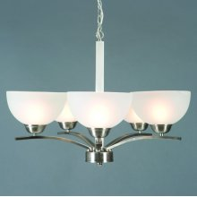 Alta Peak Collection Five Light Chandelier in Sa