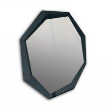 A&X Octagon - Modern Black Crocodile Lacquer Mirror