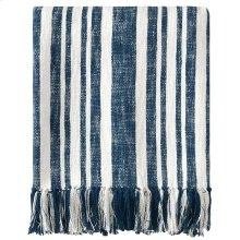 Denim Stripe Throw, NAVY, THRW