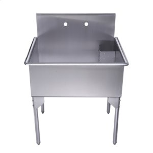 Pearlhaus Collection single bowl commercial freestanding utility sink. Product Image