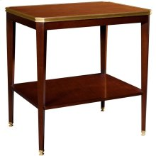 Austell Side Table with Wood Top