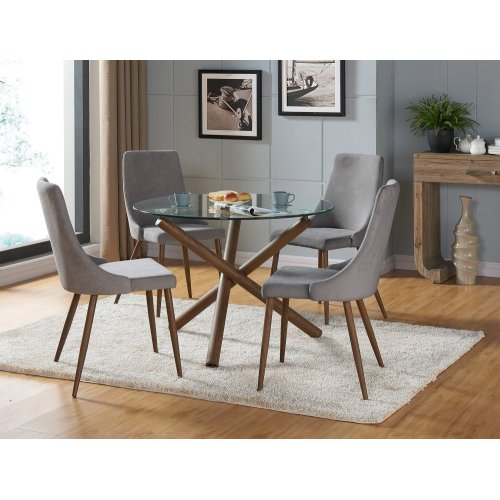 Cora Side Chair, set of 2, in Grey