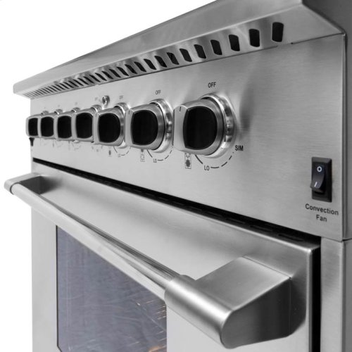 """NXR 36"""" Professional Range with Six Burners, Convection Oven, Natural Gas (DRGB3602) Special Offer available for a limited time!"""