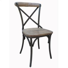 Metal X-back Side Chair-washed Caramel