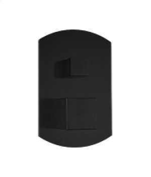 Pressure Balance Mixer with 2 Way Diverter SQU + SAFIRE - Black Product Image