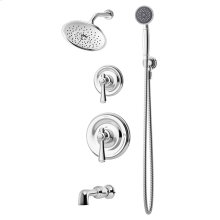 Symmons Degas® Tub/Shower/Hand Shower System - Polished Chrome