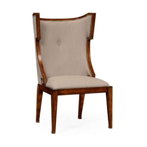 Greek Key Design Biedermeier Walnut Side Chair