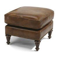 Flemington Leather Ottoman Product Image