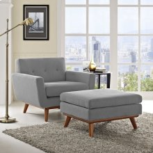 Engage 2 Piece Armchair and Ottoman in Expectation Gray
