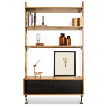 Theo Wall Unit With Drawer  Hard Fumed