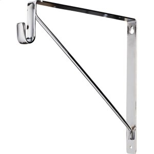 """Shelf & Rod Support Bracket. 1"""" Wide Steel Design Supports up to 150 lb per Bracket. Designed for Use with Hardware Resources 15 mm x 30 mm Oval Closet Rods. Finish: Chrome Product Image"""