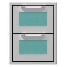 "16"" Hestan Outdoor Double Storage Drawers - AGDR Series - Bora-bora"