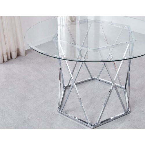 Escondido Clear Tempered Glass Top 48'' Round 8mm