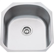 "304 Stainless Steel (18 Gauge) Undermount Utility Sink. Overall Measurements: 19-3/4"" x 20-1/2"" x 9"""