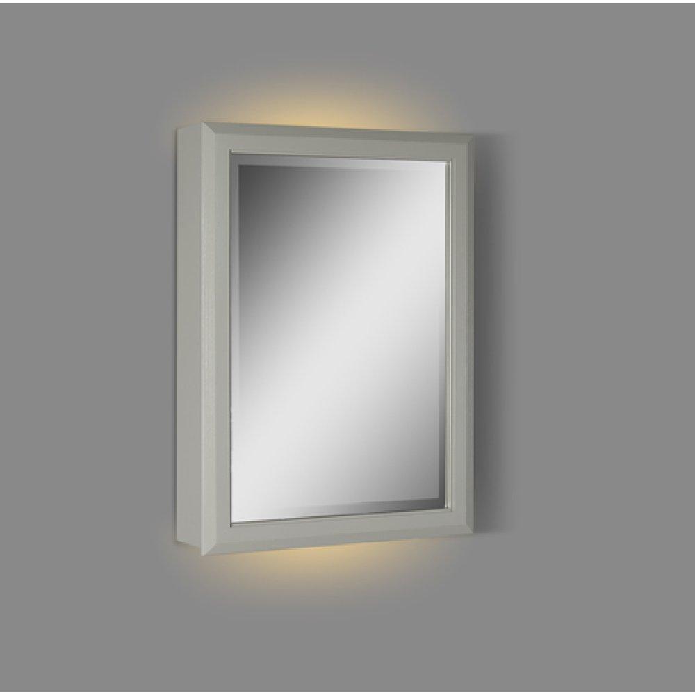 "Charlottesville 20"" LED Medicine Cabinet - right - Light Gray"